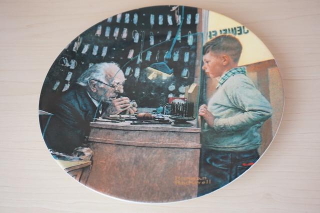 ノーマンロックウェル 絵皿(114-23)