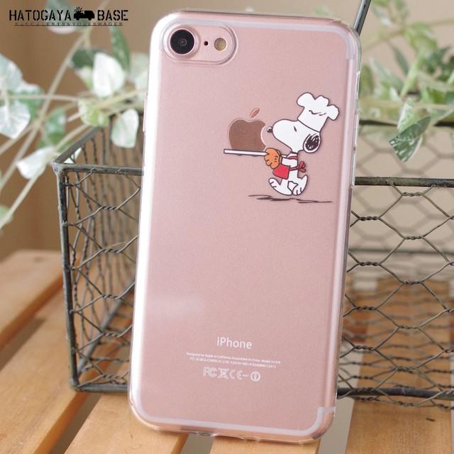 スヌーピーiPhoneケース SNOOPY CHEF [iPhoneXR/8/7/7Plus/6s/6sPlus/SE]