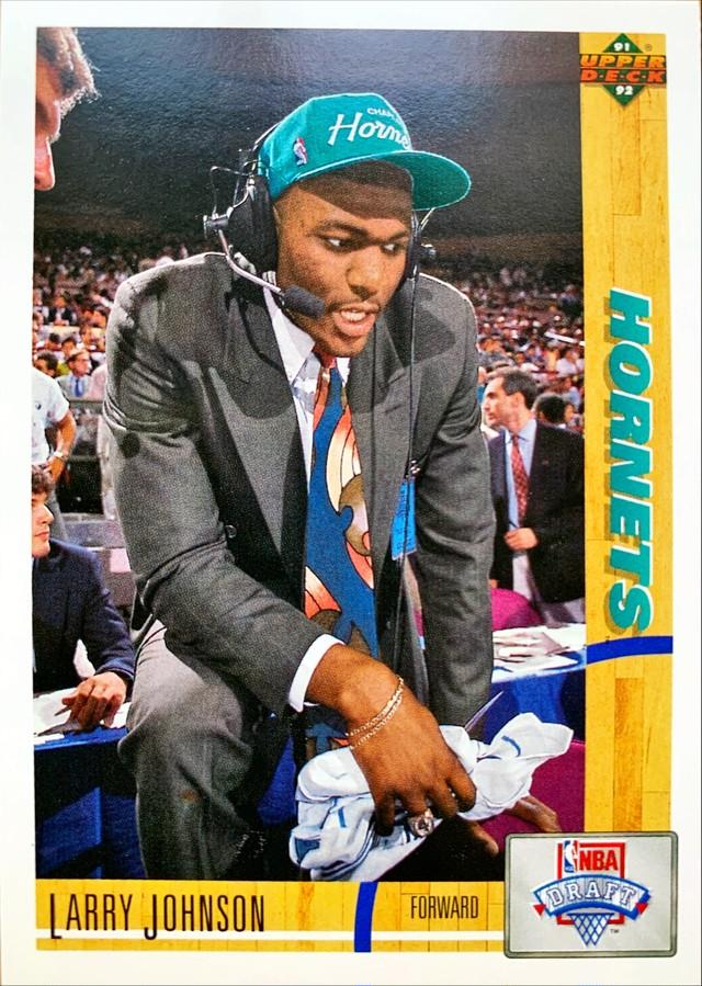NBAカード 91-92UPPERDECK Larry Johnson #2 HORNETS