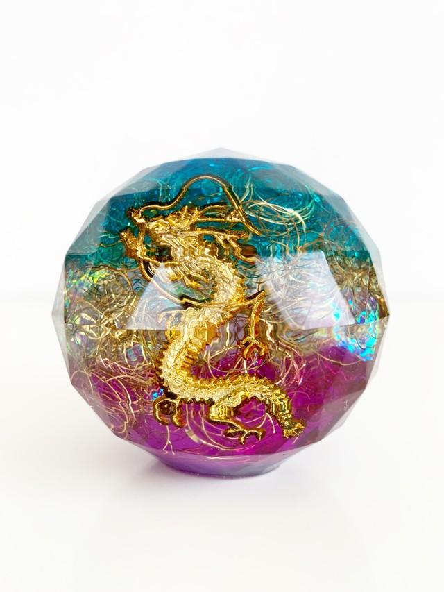 【特大宝珠オルゴナイト・28】~幸運が舞い込む、鬱解消、浄化、ポジティブエネルギーチャージ、虹のパワー、天への架け橋、自然と一体融合~