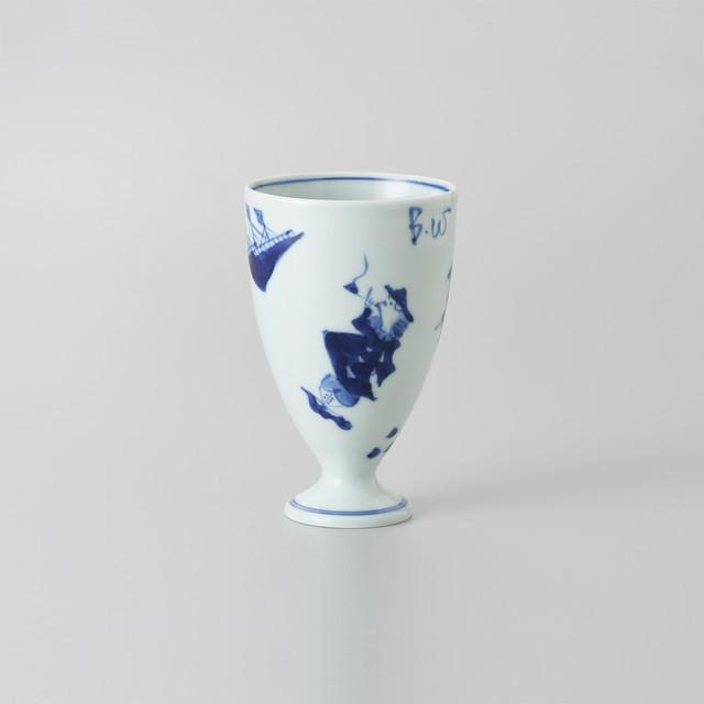 【青花】異人づくし フリーカップ(中)