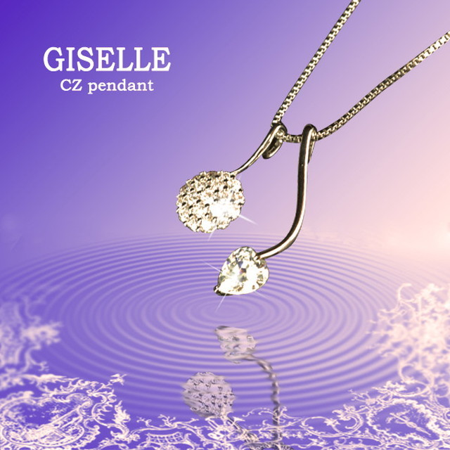 【GISELLE】ジュエリーの仕上がり!人気のベネチアチェーン 3WAY★DolceFace★CZハートデザインペンダント (OSP-8213-1)