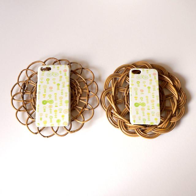 ユメノハラ ( green ) ハードケース型スマホケース【受注生産】★ Lサイズは+400円