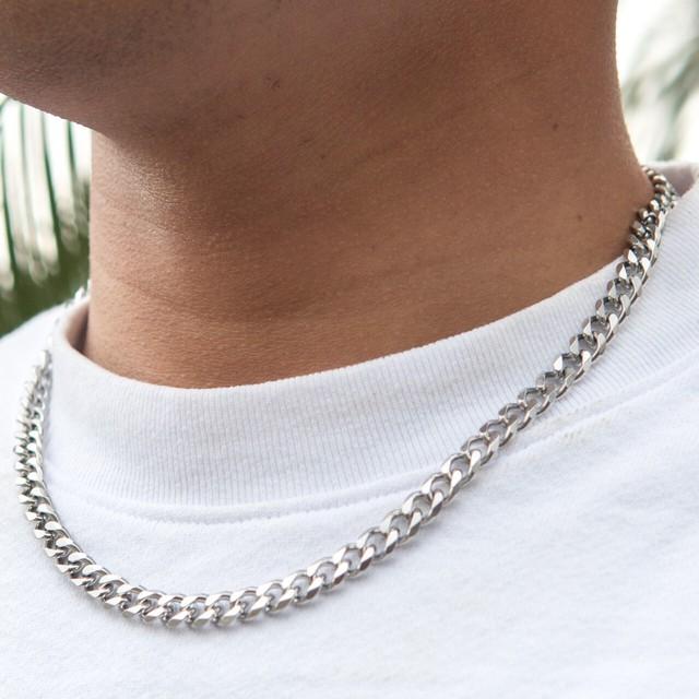 Miami Chain Link Necklace 【SILVER】