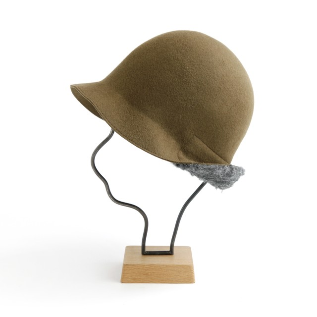 mature ha./BOXED HAT 101 mixbrown×light gray