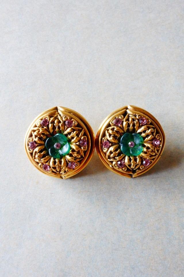 60s vintage earrings made in france