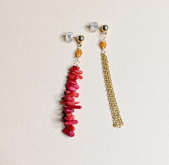 Carnelian & Coral earrings | MIHO meets RUKUS