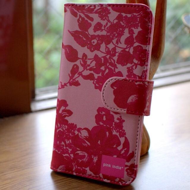北欧デザイン pinkindia iPhoneケース手帳型 Stella pink