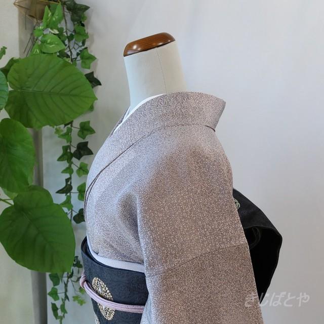 【S様ご予約品】正絹 鈍紫の江戸小紋 単衣