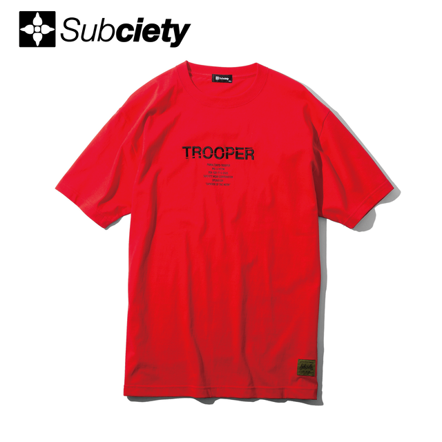 Subciety(サブサエティ) |TROOPER S/S (Red)