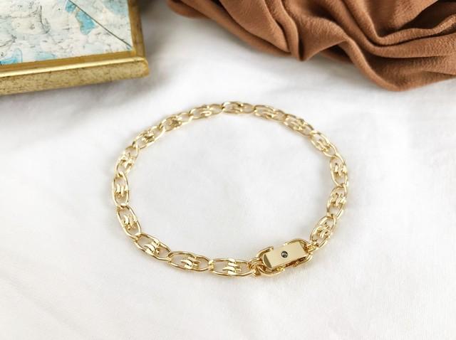 Cracked egg bracelet <gold>