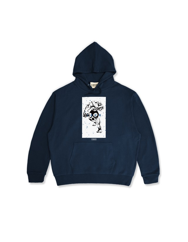 "XENO x BAKI Collaboration Hoodie ""JACK"" Navy"