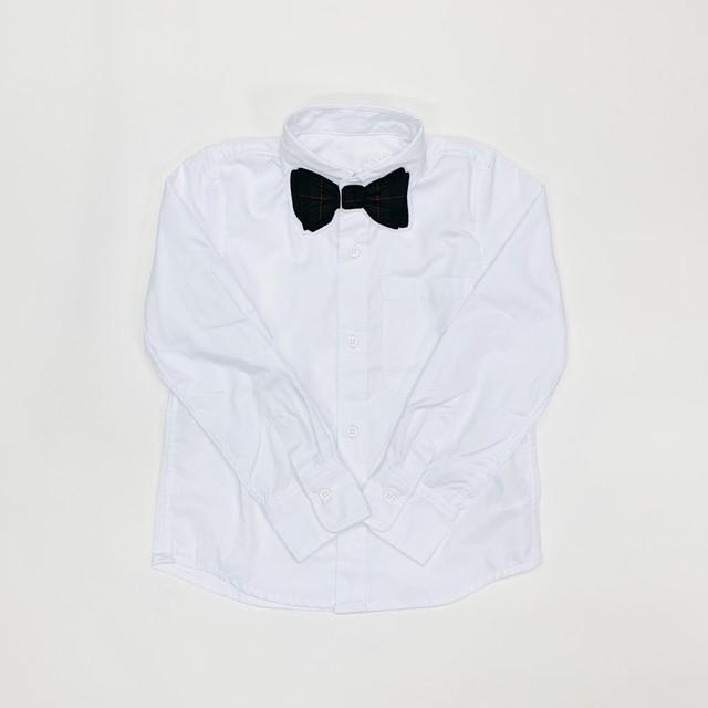 【SUPERTHAKS KIDS】蝶ネクタイワッペンシャツ:ネイビーチェック130