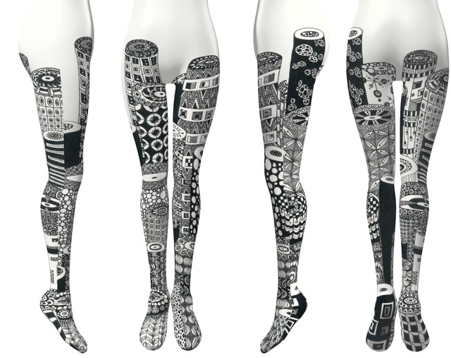 Avant-garde stockings. Avantgarde Legwear 01 / Michie Hoshina / M&K Design