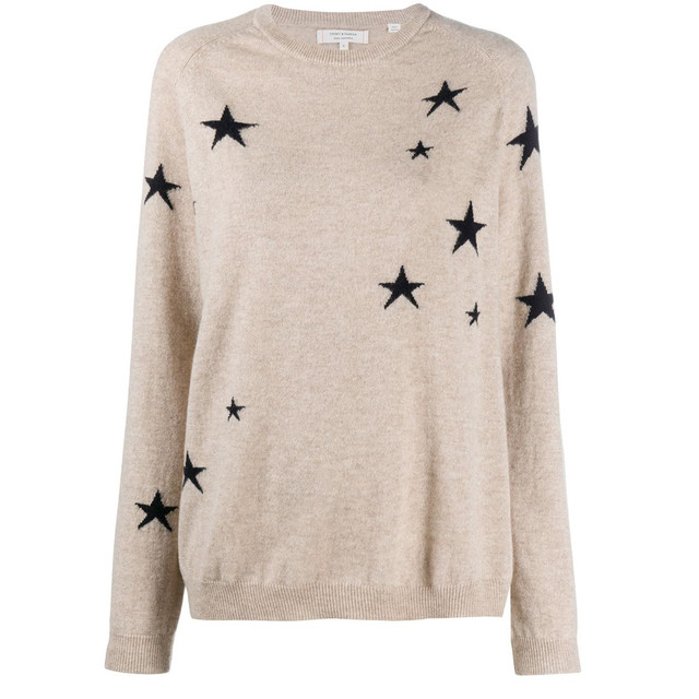 Chinti&Parker  STAR KNIT OATMEAL