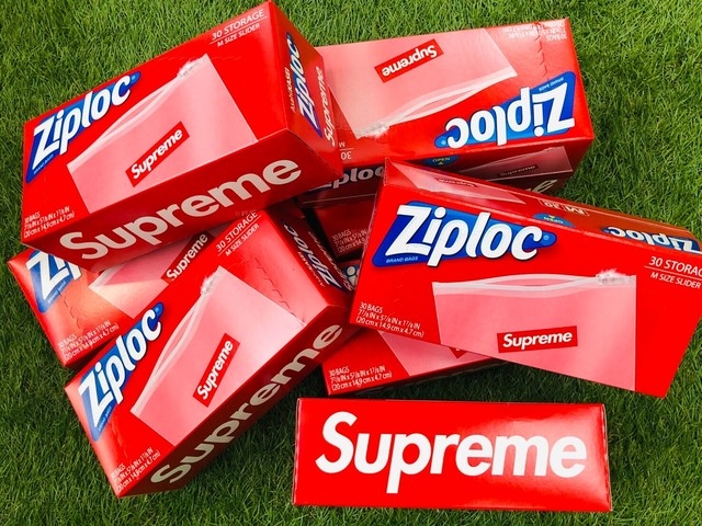 Supreme 20SS ZIPLOC BAGS 30PIECES CLEAR 13