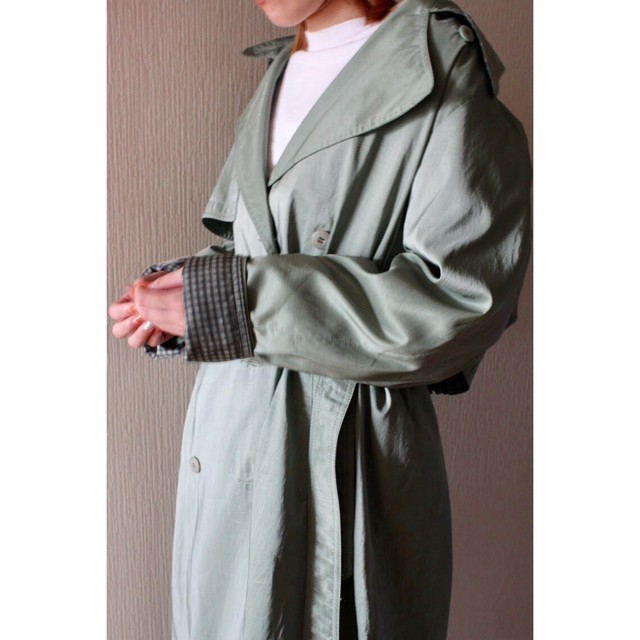 Vintage nylon fabric trench coat