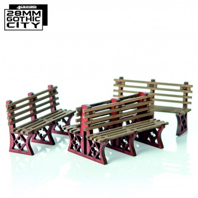 【予約発注】Red Iron Frame Benches 28F-GOC-A22R