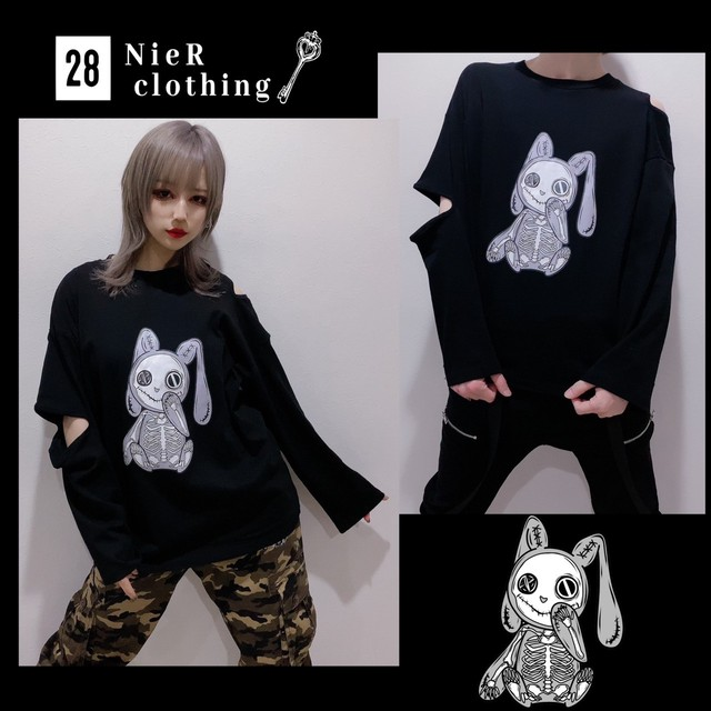 SKELETON NIER BLACK CUTSEW 【Ladies】