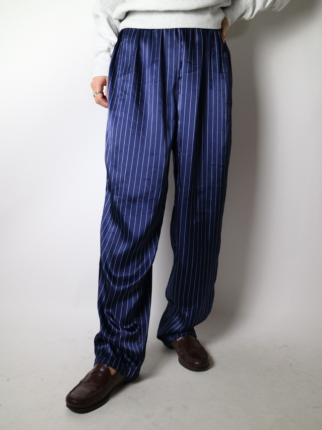 satin easy pants stripe【1008】