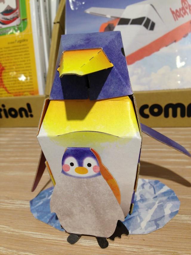 段ボールクラフト ペンギン