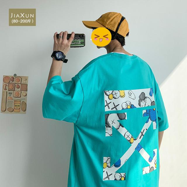 【トップス】半袖ストリートキュートバツ図柄プリントファッションTシャツ42642556