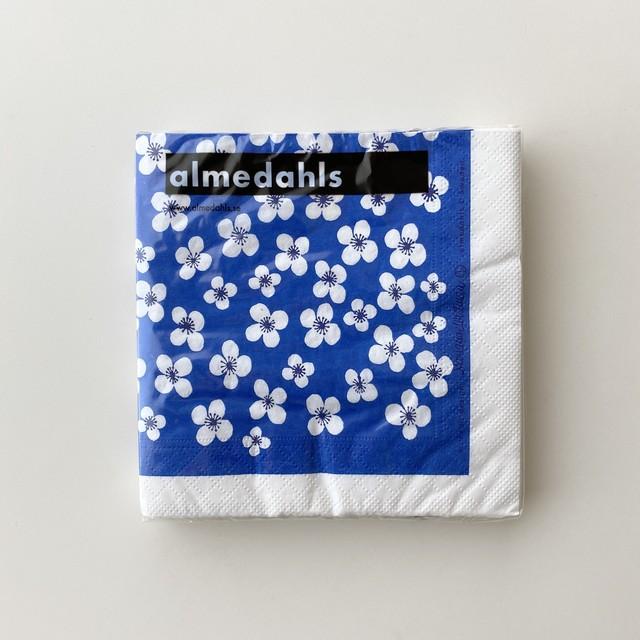 北欧【Almedahls】ランチサイズ ペーパーナプキン BELLE AMIE ブルー 20枚入り