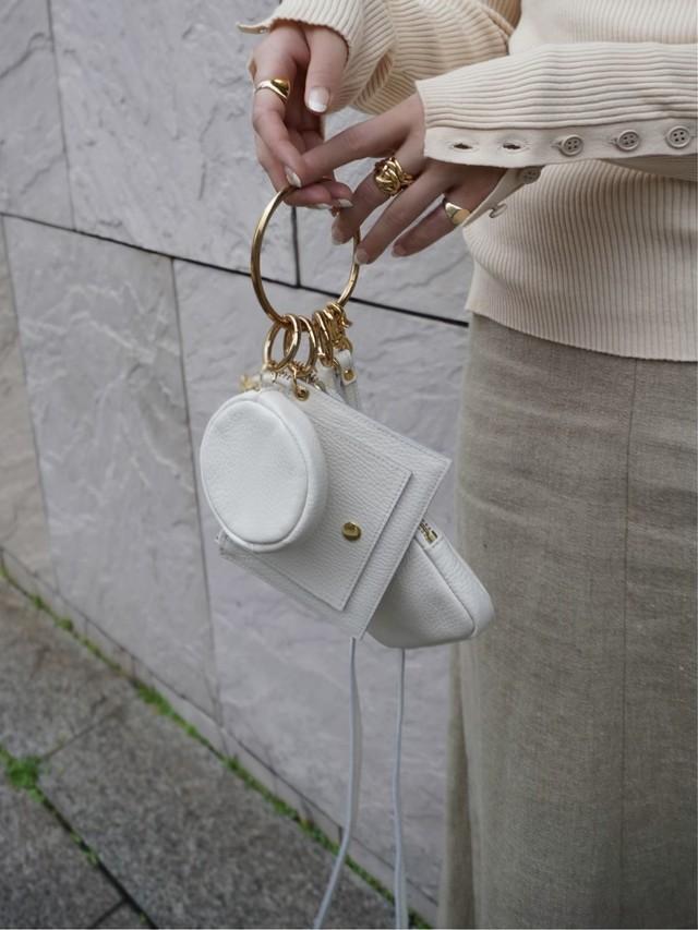 【予約】three piece bag / milk  (9月下旬発送予定)