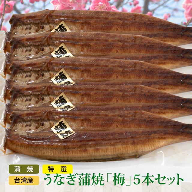 SALE:特選 台湾産うなぎ蒲焼 (梅5本セット)