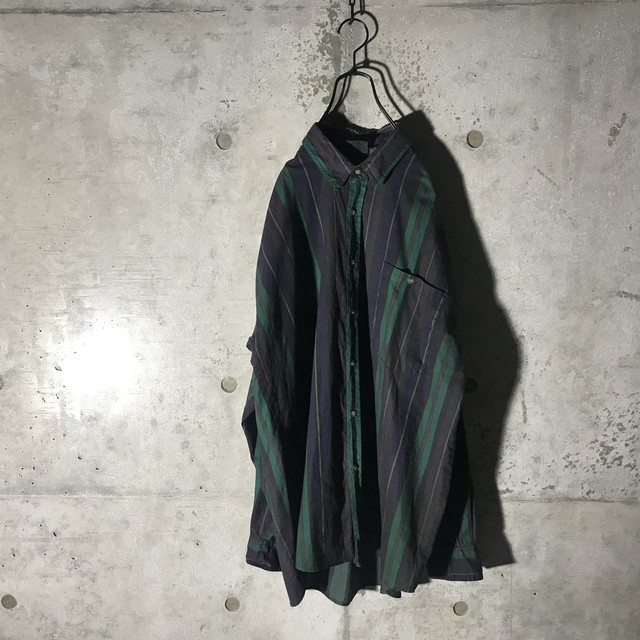 [used]rare dark stripe shirt