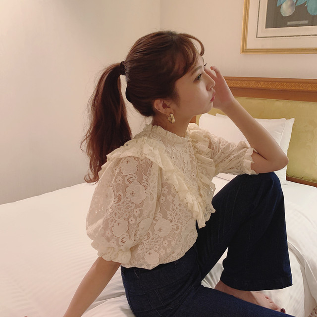 8/14 NEW【Désir original】 lace blouse