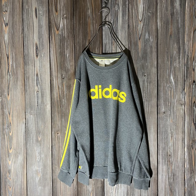 [adidas]yellow and  gray pattern sweat