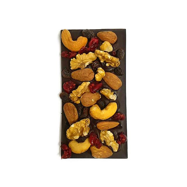 カカオ 70% + 有機ミックスナッツ & 有機ドライフルーツ
