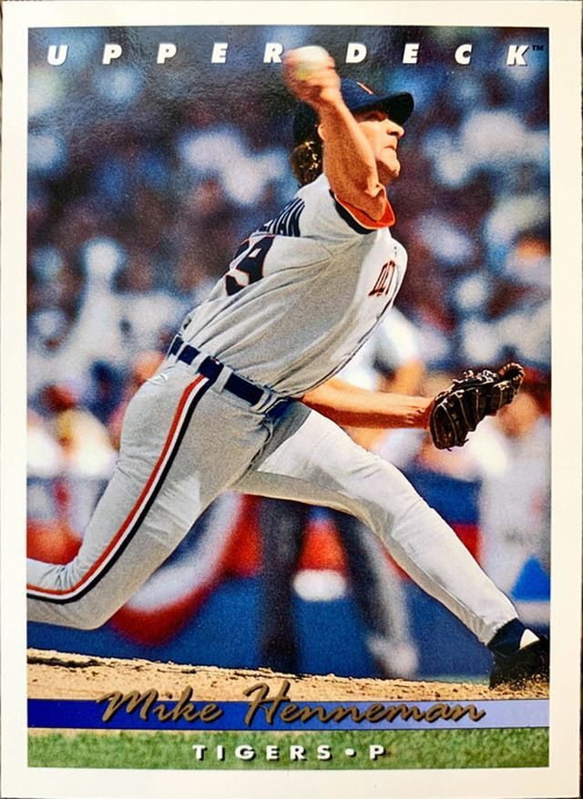 MLBカード 93UPPERDECK Mike Henneman #403 TIGERS