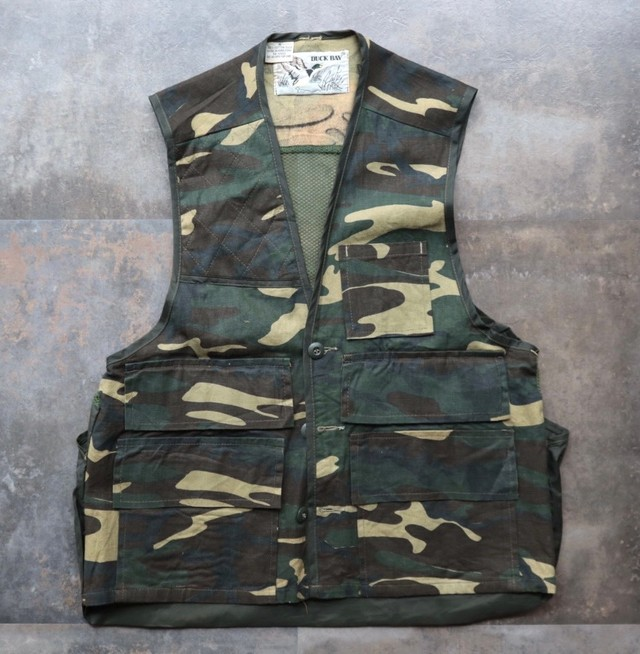 camouflage hunting vest