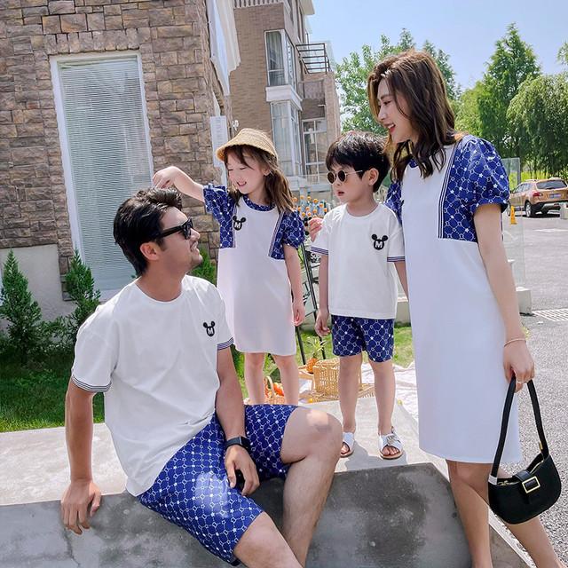 特別な親子服、母子服、洋服、夏服、4人家族のファッション外出、家族服21の流行の服 サマー 夏物 feja旗舰店 feja旗舰店16728501323
