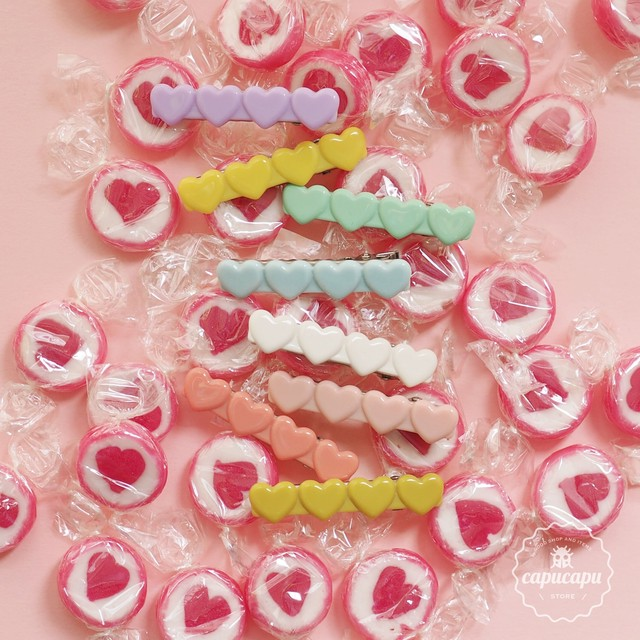 «sale»«即納» wunderkin co heart hair clips made in France ヘアクリップ