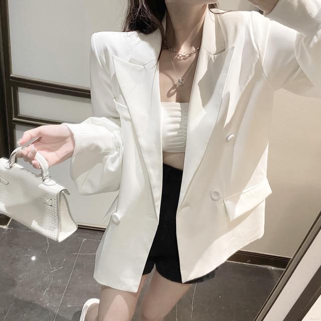 【アウター】セクシー合わせやすい折り襟上質感新作無地スーツジャケット32375003