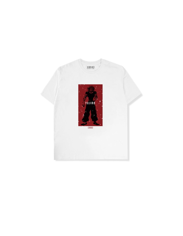 "XENO x BAKI Collaboration T-shirt ""YUJIRO"" White"