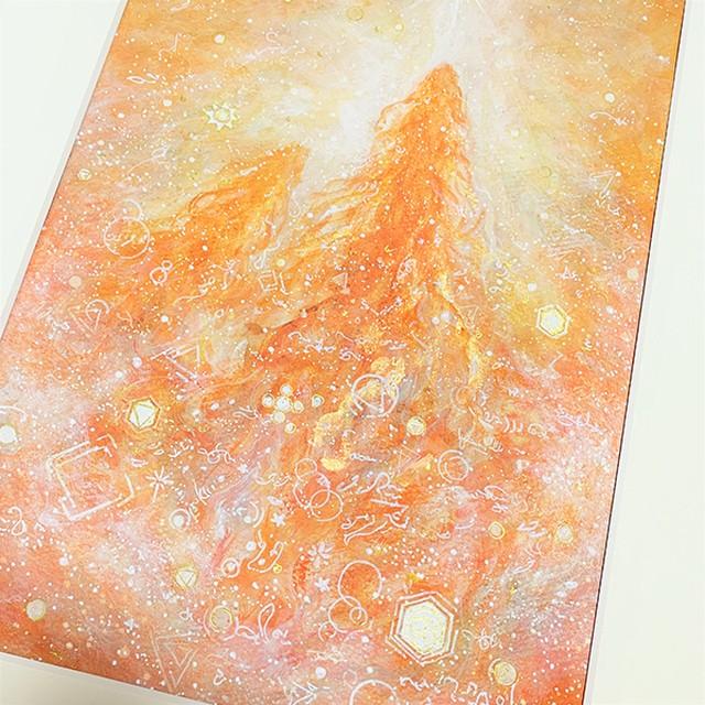 龍神の絵~ヒカリ、放つ~ アクリル画 風水画 原画作品