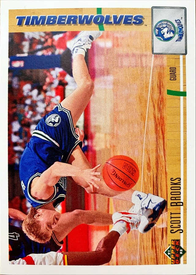 NBAカード 91-92UPPERDECK Scott Brooks #303 TIMIBERWOLVES