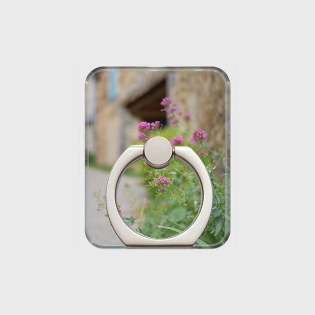 <送料無料>スマホリング - フランスの田舎ピンク *梱包なし/受注生産商品