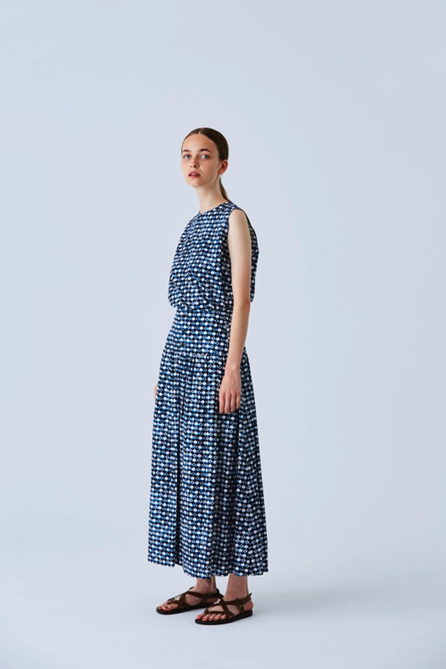 Mashrabiya Print Gathered Skirt