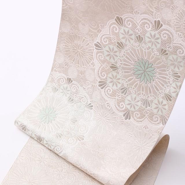 袋帯 華ひよどり:白