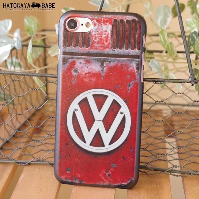 iPhoneケース RUSTY VW Late BUS RED