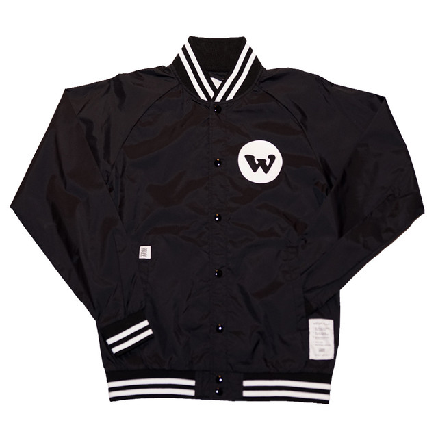WILL GOOD WILL NYLON STADIUM JACKET (BLACK)
