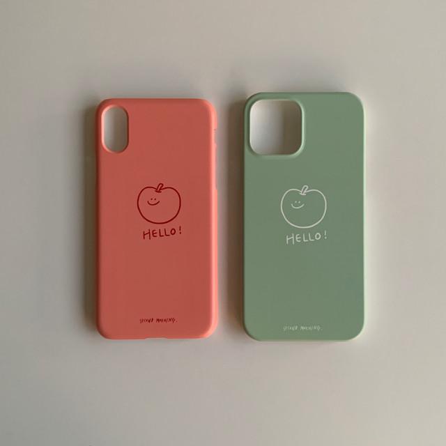 [second morning] アップル カラーハード iPhoneケース (全2色/各色4機種)