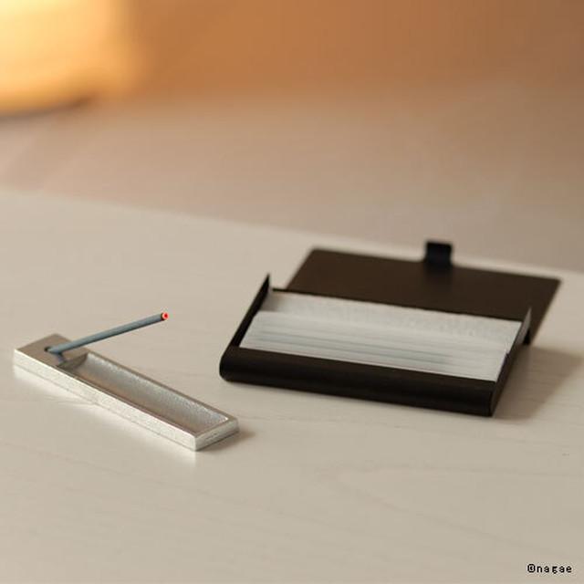 《アルミ製カードケースとお香立てセット》お気に入りのお香をいつも持ち歩いてみませんか?