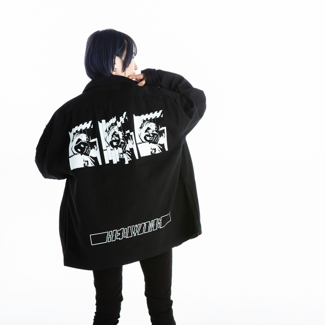 Pierrot Mask Blackdenim Jacket / Black