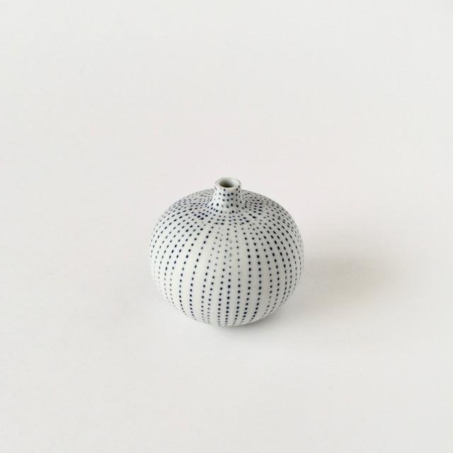 青い線の一輪挿し|Blue Dot Line Bud Vase Small